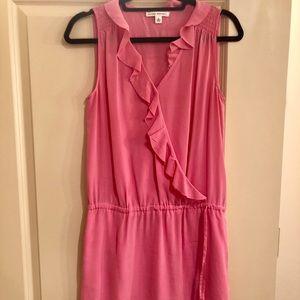 Banana Republic Pink Silk Faux Wrap Dress